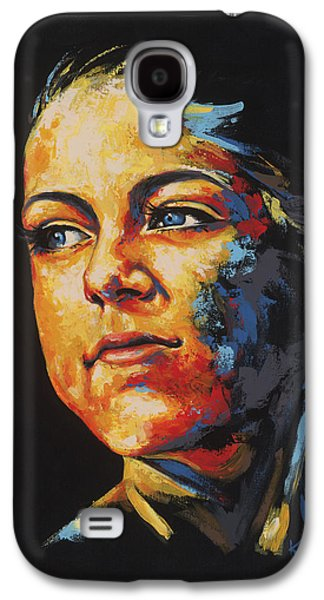 Sun Rays Paintings Galaxy S4 Cases - Cecilie Galaxy S4 Case by Konni Jensen