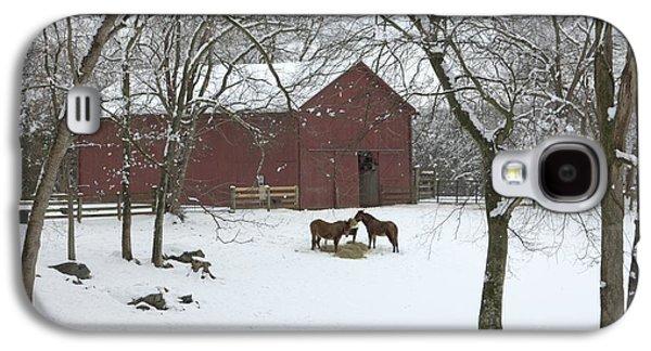 Cedarock Park In The Snow Galaxy S4 Case by Benanne Stiens