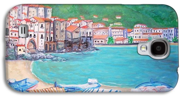 Sicily Paintings Galaxy S4 Cases - Cefalu in Sicily Galaxy S4 Case by Teresa Dominici