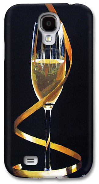 Champagne Paintings Galaxy S4 Cases - Celebrations Galaxy S4 Case by Kayleigh Semeniuk