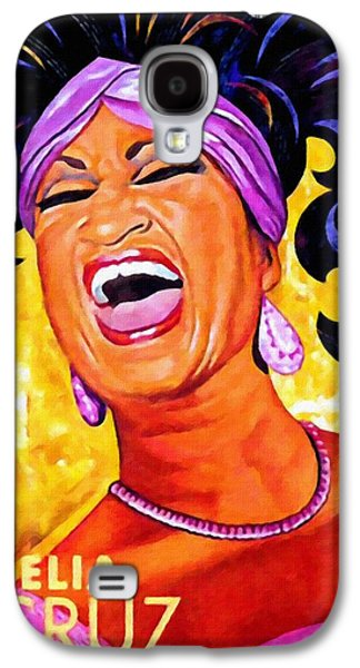 Sonora Paintings Galaxy S4 Cases - Celia Cruz Galaxy S4 Case by Lanjee Chee