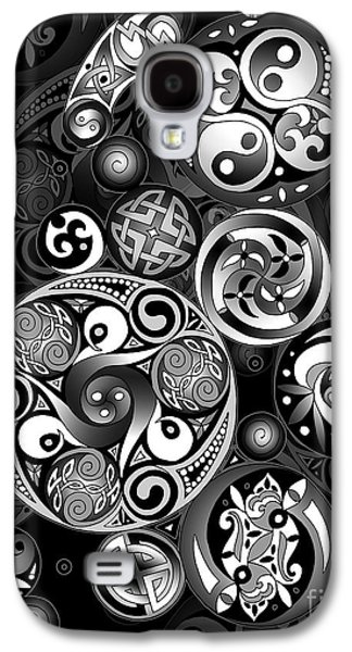 Mechanism Mixed Media Galaxy S4 Cases - Celtic Clockwork Galaxy S4 Case by Kristen Fox
