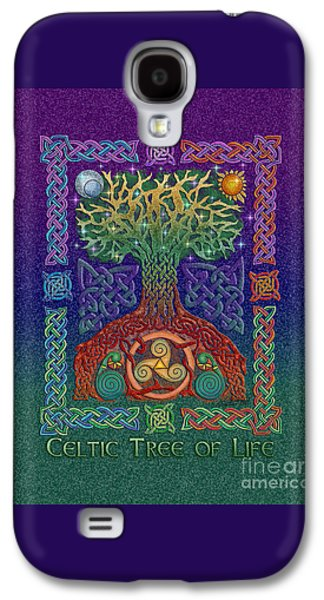 Tree Roots Mixed Media Galaxy S4 Cases - Celtic Tree of Life Galaxy S4 Case by Kristen Fox