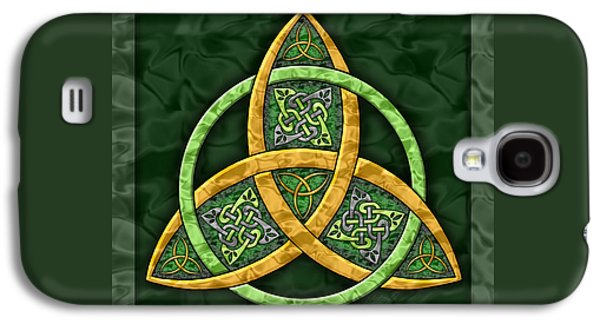 Ancient Paintings Galaxy S4 Cases - Celtic Trinity Knot Galaxy S4 Case by Kristen Fox