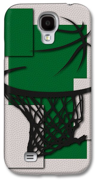 Boston Celtics Galaxy S4 Cases - Celtics Hoop Galaxy S4 Case by Joe Hamilton
