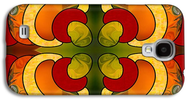 Centrally Located Abstract Art By Omashte Galaxy S4 Case by Omaste Witkowski