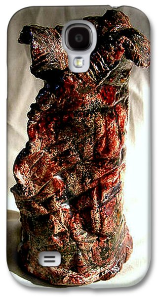 Ceramic Ceramics Galaxy S4 Cases - Ceramic red vase Galaxy S4 Case by Madalena Lobao-Tello