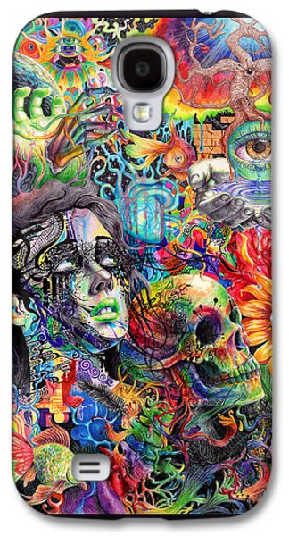 Feather Drawings Galaxy S4 Cases - Cerebral Dysfunction Galaxy S4 Case by Callie Fink