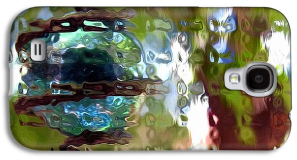 Abstract Digital Art Galaxy S4 Cases - Chain Reaction Galaxy S4 Case by Lisa S Baker