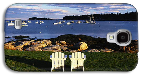 New England Village Galaxy S4 Cases - Chairs Lobster Village Me Galaxy S4 Case by Panoramic Images