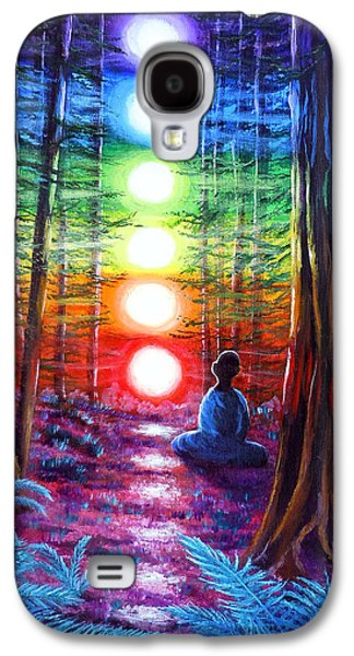 Recently Sold -  - Surreal Landscape Galaxy S4 Cases - Chakra Meditation in the Redwoods Galaxy S4 Case by Laura Iverson