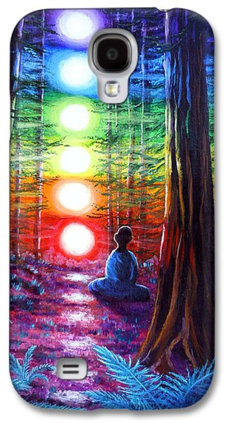 Chakra Meditation In The Redwoods Galaxy S4 Case by Laura Iverson