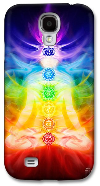 Luminous Body Galaxy S4 Cases - Chakras and energy flow on human body Galaxy S4 Case by Oleksiy Maksymenko