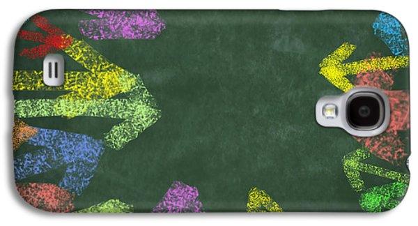 Information Photographs Galaxy S4 Cases - Chalk Drawing Colorful Arrows Galaxy S4 Case by Setsiri Silapasuwanchai