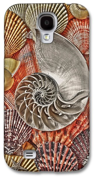 Chambered Nautilus Shell Abstract Galaxy S4 Case by Garry Gay