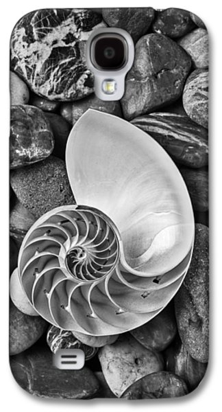 Brown Tones Galaxy S4 Cases - Chambered Nautilus Shell  On River Stones Galaxy S4 Case by Garry Gay