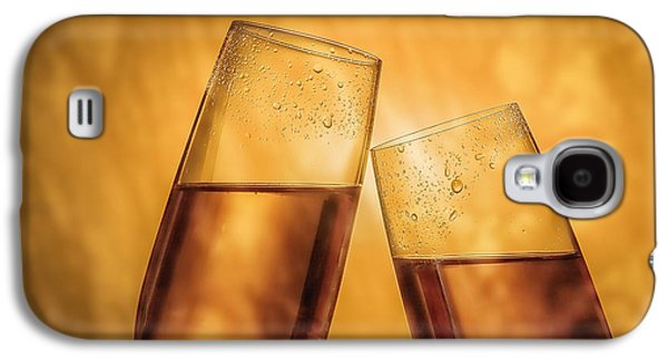Wine Sipping Galaxy S4 Cases - Champagne Toast Galaxy S4 Case by Tom Mc Nemar