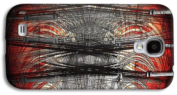 Abstract Digital Digital Galaxy S4 Cases - Champange Congos Galaxy S4 Case by Joshua Moore