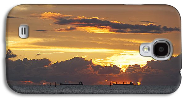 Beach Landscape Galaxy S4 Cases - Champion Bay Sunset Galaxy S4 Case by Karl Monaghan