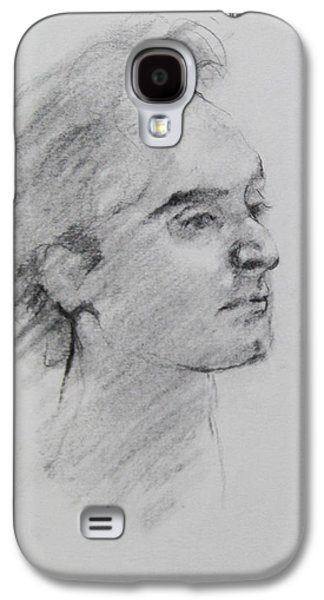 Becky Kim Drawings Galaxy S4 Cases - Charcoal Series 1 Galaxy S4 Case by Becky Kim