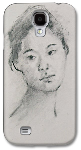 Becky Kim Drawings Galaxy S4 Cases - Charcoal Series 3            Galaxy S4 Case by Becky Kim