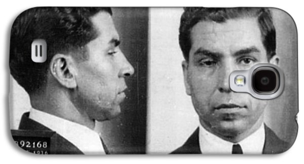 Police Paintings Galaxy S4 Cases - Charles Lucky Luciano Mug Shot 1931 Horizontal Galaxy S4 Case by Tony Rubino
