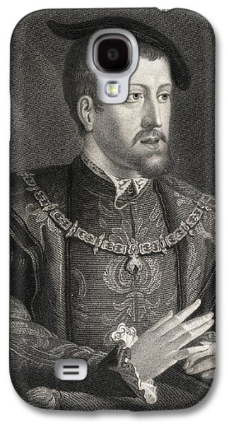 Austria Drawings Galaxy S4 Cases - Charles V1500-1558. King Of Spain And Galaxy S4 Case by Vintage Design Pics