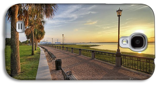 Carolina Galaxy S4 Cases - Charleston SC waterfront park sunrise  Galaxy S4 Case by Dustin K Ryan