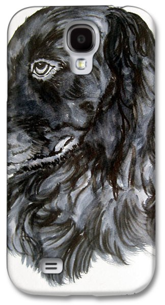 Dog Close-up Paintings Galaxy S4 Cases - Charlie Galaxy S4 Case by Lil Taylor