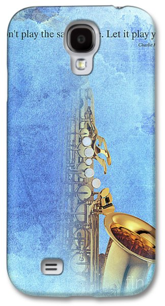 Charlie Parker Saxophone Vintage Poster And Quote, Gift For Musicians Galaxy S4 Case by Pablo Franchi