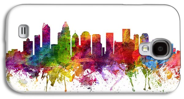 Charlotte Galaxy S4 Cases - Charlotte Cityscape 06 Galaxy S4 Case by Aged Pixel