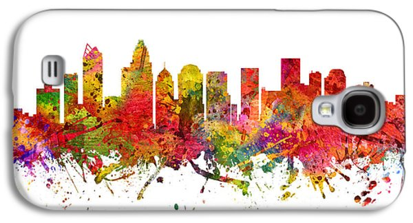 Charlotte Drawings Galaxy S4 Cases - Charlotte Cityscape 08 Galaxy S4 Case by Aged Pixel