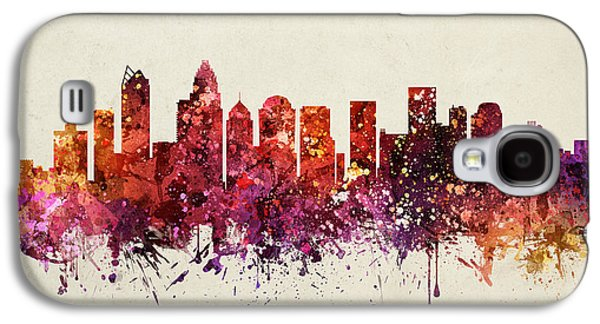 Charlotte Drawings Galaxy S4 Cases - Charlotte Cityscape 09 Galaxy S4 Case by Aged Pixel