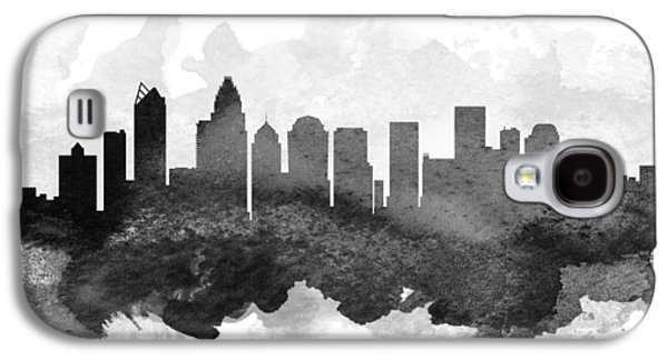 Charlotte Galaxy S4 Cases - Charlotte Cityscape 11 Galaxy S4 Case by Aged Pixel