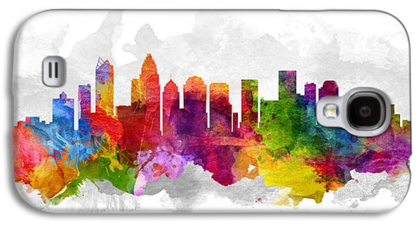 Charlotte Galaxy S4 Cases - Charlotte North Carolina Cityscape 13 Galaxy S4 Case by Aged Pixel