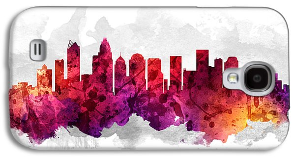 Charlotte Galaxy S4 Cases - Charlotte North Carolina Cityscape 14 Galaxy S4 Case by Aged Pixel