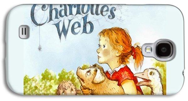 Charlottes Web Galaxy S4 Case by Elizabeth Coats