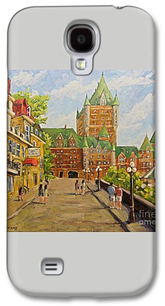 Chateau Frontenac Promenade Quebec City By Prankearts Galaxy S4 Case by Richard T Pranke