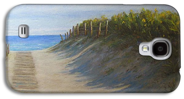 Beach Landscape Pastels Galaxy S4 Cases - Chatham Beachwalk Galaxy S4 Case by Tanja Ware