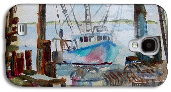 Chatham Paintings Galaxy S4 Cases - Chatham fishing boat Galaxy S4 Case by Linda Emerson
