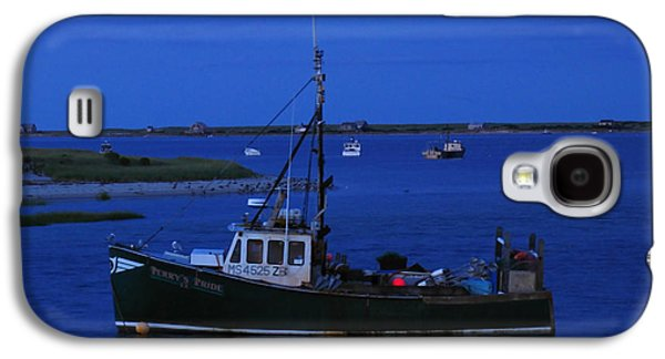 Chatham Galaxy S4 Cases - Chatham Pier Fisherman Boat  Galaxy S4 Case by Juergen Roth