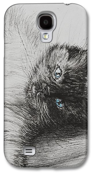 Pen And Ink Drawing Drawings Galaxy S4 Cases - Cheeky Baby Galaxy S4 Case by Vincent Alexander Booth