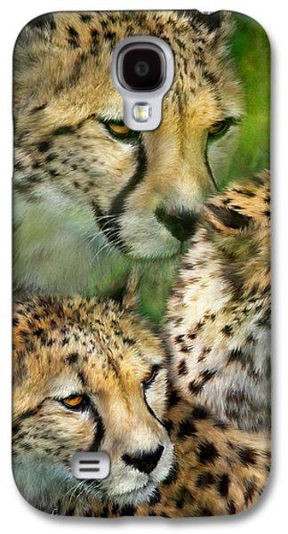 Cheetah Moods Galaxy S4 Case by Carol Cavalaris