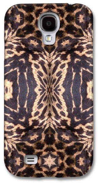"""digital Abstract"" Galaxy S4 Cases - Cheetah Print Galaxy S4 Case by Maria Watt"