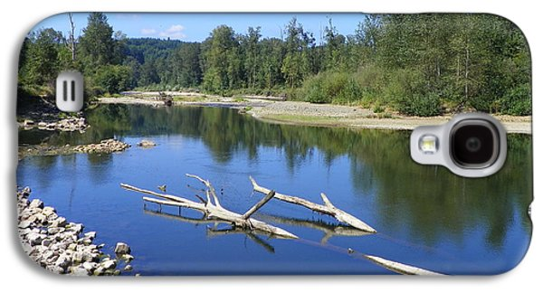 Digital Pyrography Galaxy S4 Cases - Chehalis River Washington Galaxy S4 Case by Laurie Kidd