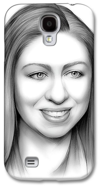 Chelsea Clinton Galaxy S4 Case by Greg Joens