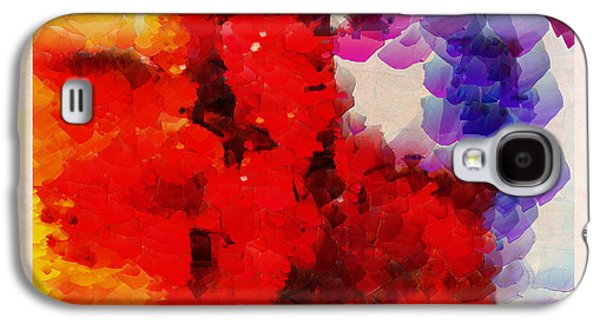 Abstract Paintings Galaxy S4 Cases - Cherrie Amore Ditto  Galaxy S4 Case by Sir Josef  Putsche Social Critic