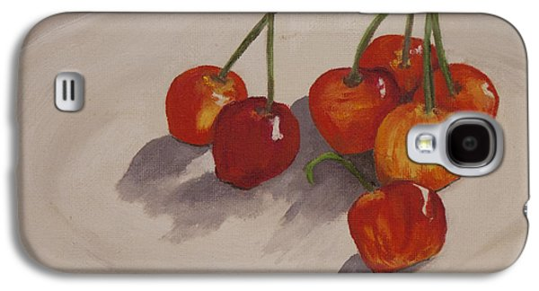 Stockton Paintings Galaxy S4 Cases - Cherries Temptation Galaxy S4 Case by Sharon Elizondo