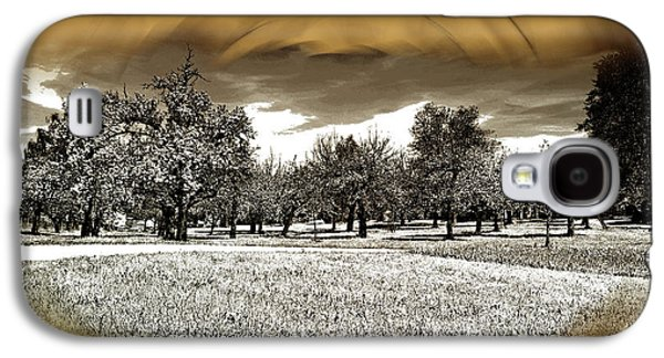 Cherry And Apple Trees In A Field Galaxy S4 Case by Michael Naegele