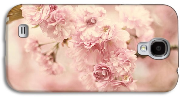 Cherry Blossoms Galaxy S4 Cases - Cherry Blossom Petals Galaxy S4 Case by Jessica Jenney